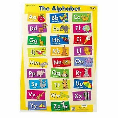 Chart Wall Kids Poster Educational Learning Alphabet Words Baby Learn Play Fun