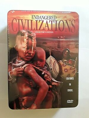 ENDANGERED CIVILIZATIONS Dvd Box Set in tin box . Sealed .History.Movies.