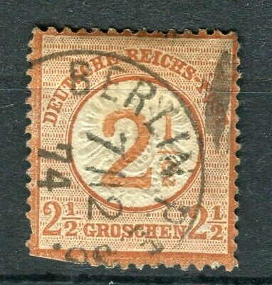 GERMANY; 1872 early classic Shield issue fine used 2.5g. value, fair Postmark