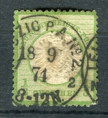 GERMANY; 1872 early classic Shield issue fine used 1/3g. value, fair Postmark