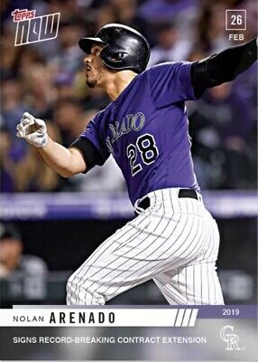 2019 Topps Now #St-2 Nolan Arenado Signs Extension With Rockies Just 320 Printed