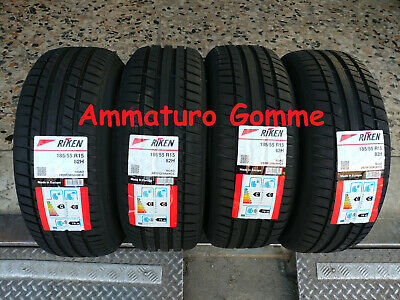 Kit 4 Gomme Nuove 185 55 15 185/55 R 15 1855515 Riken By Michelin Anno 2019!!