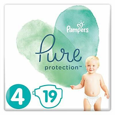Pampers Pure Protection, Gr.4 Maxi 9-14 kg, Tragepack (1 x 19 Stück), mit Premiu