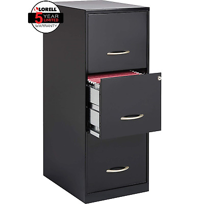 SOHO 18 3-Drawer Vertical File Cabinet w/ Wheels, Secure Lock for Office NEW