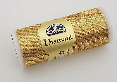 Dmc Diamant Metallic Embroidery Thread No. D3821 35 Meter Spool Soft Gold