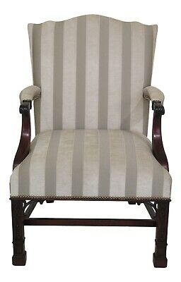 30660EC: STICKLEY Colonial Williamsburg Chippendale Mahogany Library Chair