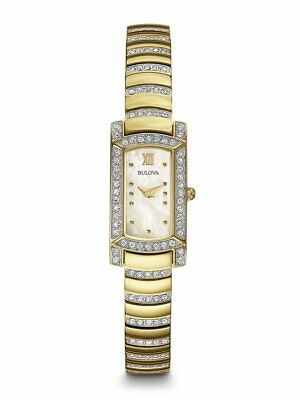 *BRAND NEW* Bulova Women's Crystal Accent Gold Tone Stainless Steel Watch 98L204
