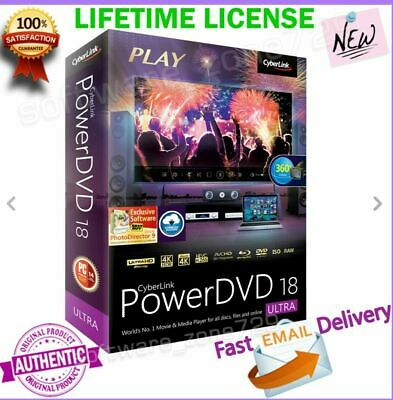 CyberLink PowerDVD Ultra 18 LIFETIME LICENSE - DOWNLOAD PC Tablet Software