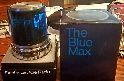 "Vintage 1967 "" Blue Max "" Space Age Antique Atomic Old Working Transistor Radio"
