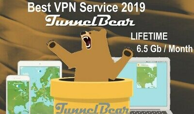 VPN Tunnel Bear - 6,5Go/month - Account WORLDWIDE- [LIFETIME WARRANTY]