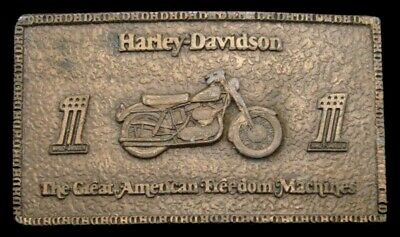 Pl04106 Vintage 1974 *Harley-Davidson #1* Great American Freedom Machines Buckle