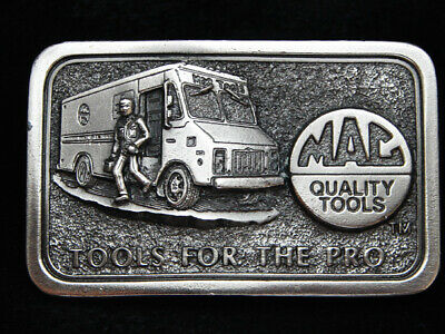 PC01151 VINTAGE 1970s **MAC QUALITY TOOLS FOR THE PRO** COMPANY BELT BUCKLE