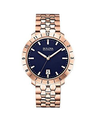 *BRAND NEW* Bulova Men's Blue Dial Rose Gold Tone Stainless Steel  Watch 97B130