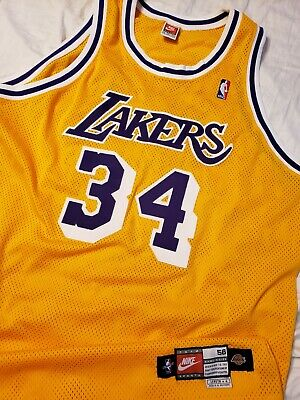 ad1220cc5bd Shaquille O'Neal 1998-99 Los Angeles Lakers Nike Authentic Pro Cut Jersey