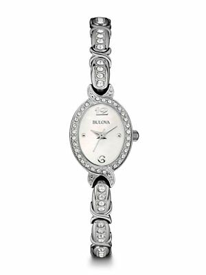 *BRAND NEW* Bulova Women's Crystal Accent Stainless Steel Bracelet Watch 96L199