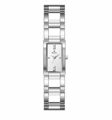 *BRAND NEW* Bulova Women's Crystal Accents Stainless Steel Case Watch 96P120