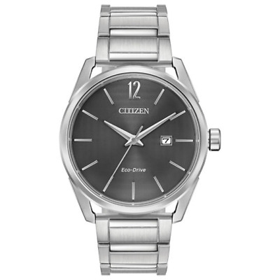 *BRAND NEW* Citizen Men's Eco-Drive Grey Dial Stainless Steel Watch BM7410-51H