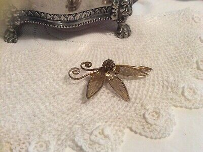 Vintage Estate Jewellery - Brooch Abstract Gold Retro Butterfly