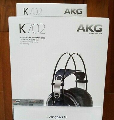 Genuine, New AKG K702 Reference-Quality Open-Back Circumaural Studio Headphones