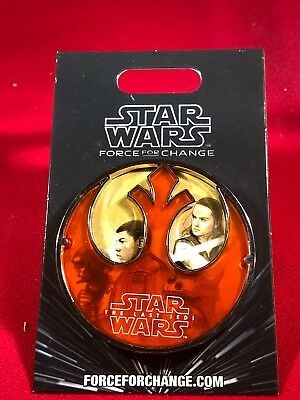 1 Disney Pin 3D Star Wars the Last Jedi Force for Change New Card As Seen lotBB