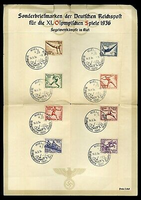 1936 Stamps Summer Olympics Berlin Germany Nazi Third Reich Deutschland Souvenir