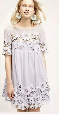 058e0fb0f555 Anthropologie Magnolia Lace Dress by Holding Horses Sz 10 LILAC Flawless