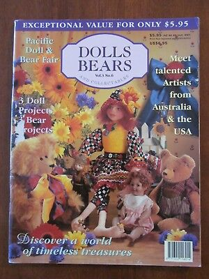 Dolls, Bears & Collectables - Vol 3 No.6 1997  Doll Bears & Miniature Projects
