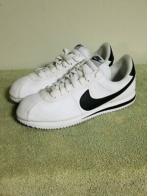new products c213e 52cea NIKE CORTEZ BASIC Leather White/Black/Metallic Silver [819719-100] Men's  Size 11