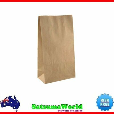 25x MEDIUM Brown PAPER BAG Kraft Bags Lolly Buffet Craft Market 18cm x 32cm