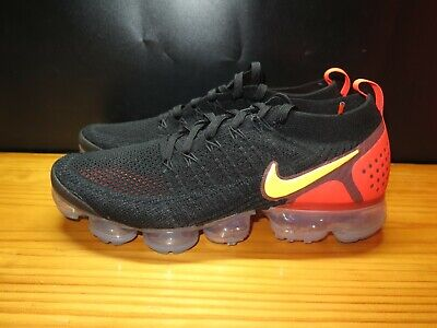 a13fa750222 Nike Air Vapormax Flyknit 2 Running Shoes Black Laser Orange Size 10 942842  005