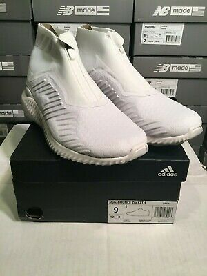 quality design 572d6 1f491 adidas x KITH Alphabounce Zip Triple White DA9707 Size 9 BRAND NEW IN HAND