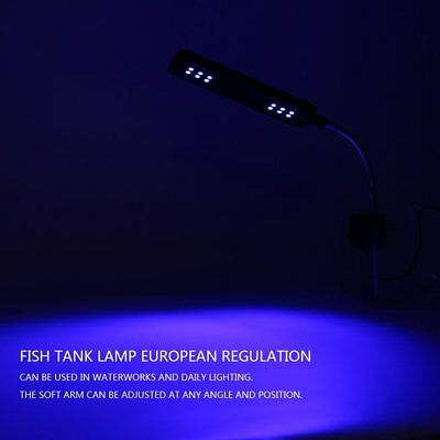 48 LED Aquarium Fish Light Plant Grow Clip on Lamp Adjustable Arm Light DB