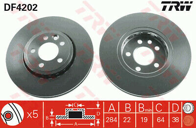 Fits MG ZT 260 Genuine Delphi Rear Vented Brake Discs Set Pair