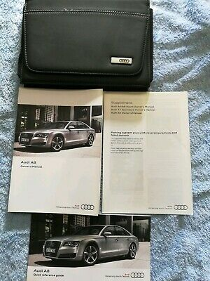 Audi a8 2011 Owner Manuals Handbooks and Wallet