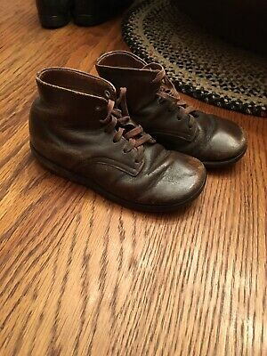 Antique  Baby Child's brown Leather  Boots/shoes