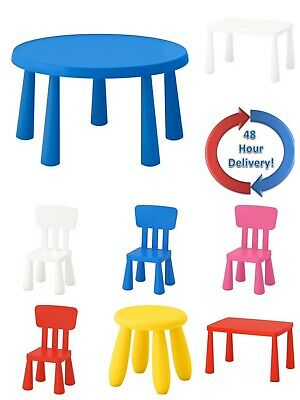 Ikea Mammut Children Plastic Chair Table Indoor Outdoor Various Colours