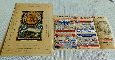 Rare! 1942 Vintage Kentucky State Poster Stamps