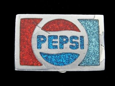 RJ09143 VINTAGE 1970s **PEPSI** SODA FOUNTAIN ADVERTISEMENT BELT BUCKLE