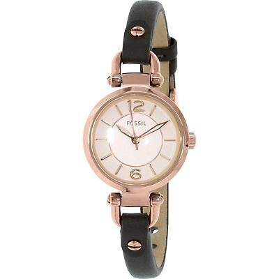 32efa97612d6  BRAND NEW  Fossil Women s Grey Leather Strap Rose Gold Tone Steel Watch  ES3862