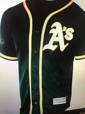 445ec1352d8 Oakland Athletics Majestic Official Cool Base Jersey Athletic Green Men s XL