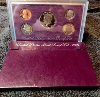 1989-S U.S.Proof set. Genuine - Complete and original as issued by The US Mint.