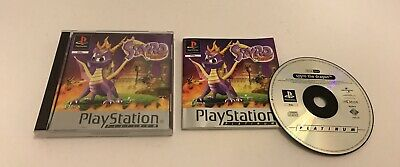 Spyro The Dragon Sony PlayStation PS1 Complete Platinum Release PAL