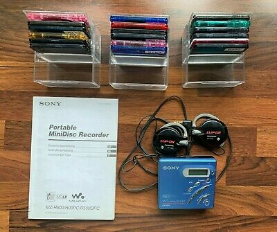Sony MD Walkman MZ-R500  + Extra 18 MD's in Cases