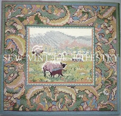 EHRMAN SHEEP at CWMCARVAN by SARAH WINDRUM vintage TAPESTRY NEEDLEPOINT KIT