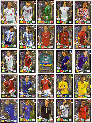 2018 Panini Adrenalyn XL ROAD TO FIFA WORLD CUP Russia * LIMITED EDITION CARDS *