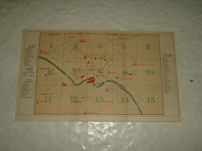 Leeds 1887 Map And Programme For Congregational Union Of England And Wales
