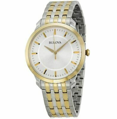 Bulova Silver Dial Two-tone Stainless Steel Men's Watch 98A121