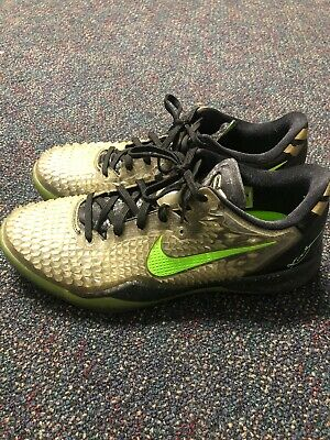 new product 20ef2 4d7e3 NIKE Kobe 8 System SS sz 12 Christmas Edition Black Electric Green Gold  Grinch