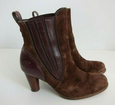 0e562dcc486a UGG Olivya 5597 Brown Leather Fur Bottom Pull On Ankle Boot Women s Size 6.5