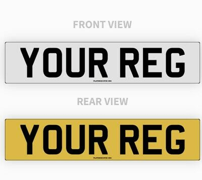 Pair Standard Car Number Plate's 100% Road Legal Mot Compliant, High Quality